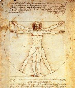 O Homem Vitruviano, de Leonardo Da Vinci